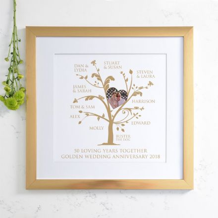 Personalised Golden Anniversary Photo Family Tree